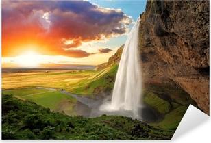 Nálepka Pixerstick Vodopád, Island - Seljalandsfoss
