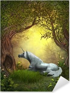 Nálepka Pixerstick Woodland Unicorn