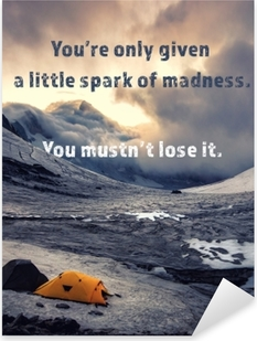 Nálepka Pixerstick You're only given a little spark of madness. You mustn't lose it.