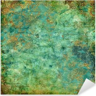 Nálepka Pixerstick Zelená rezavé vintage textury