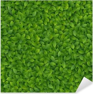 Nálepka Pixerstick Zelené listy textury