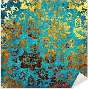 Nálepka Pixerstick Zlatá-modrá ročník pozadí