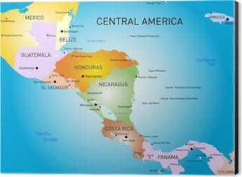 Obraz Na Plotnie Ameryka Srodkowa Mapa Pixers Zyjemy By Zmieniac