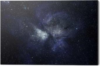 Obraz na Aluminium (Dibond) Niebieskie tło przestrzeni