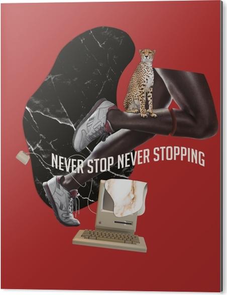 Obraz na Aluminium (Dibond) Nigdy nie przestawaj. Nigdy się nie zatrzymuj. - Motywacyjne