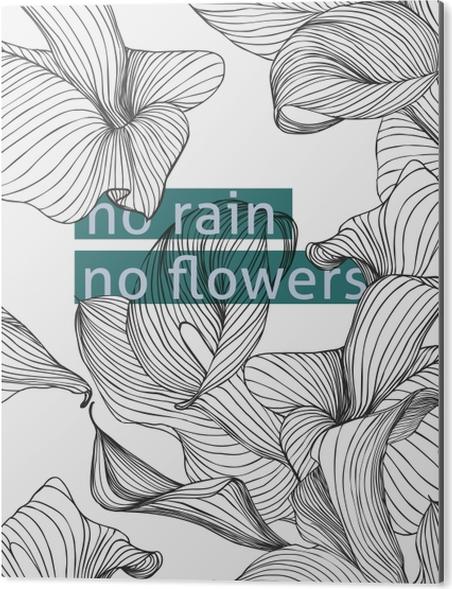 Obraz na Aluminium (Dibond) No rain, no flowers - Motywacyjne