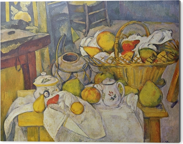 Obraz na Aluminium (Dibond) Paul Cézanne - Martwa natura z koszem - Reprodukcje