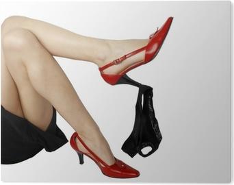 991ee16ff08 Fototapeta Dámské nohy s kalhotky a černé boty • Pixers® • Žijeme ...