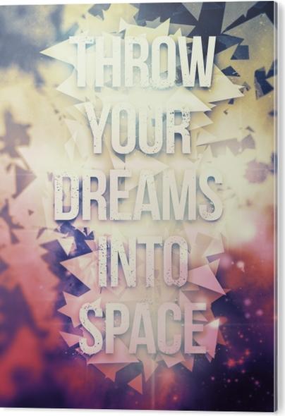 Obraz na Hliníku (Dibond) Motivační Plakát -