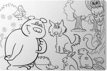 Plakat Dzikie Zwierzeta Lesne Dla Kolorowanka Pixers Zyjemy