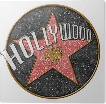 Obraz na PCV Hollywood star