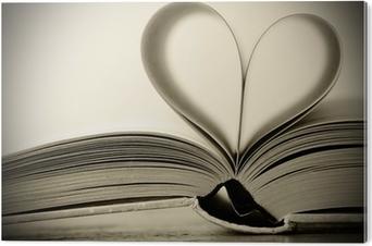 Obraz na PCV Książka w kształcie serca