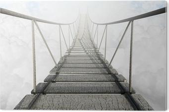 Obraz na PCV Most linowy nad chmurami