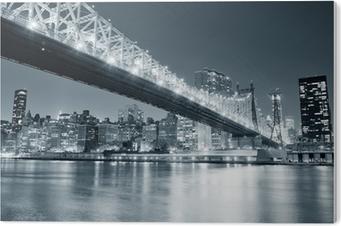 Obraz na PCV Nowy jork panorama miasta nocą