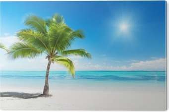 Obraz na PCV Palmy i morze