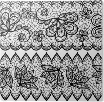 bf19f136bf8704 Plakat Stare koronki bez szwu wzór, ozdobnych granicy. Vector, tekstury. •  Pixers® • Żyjemy by zmieniać