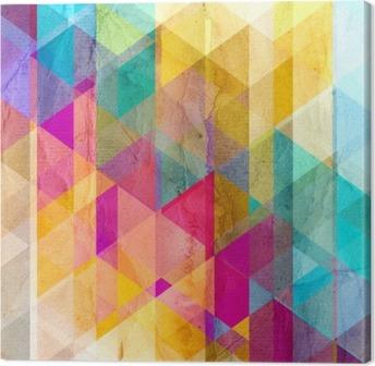 Obraz na Plátně Akvarel geometrické pozadí s trojúhelníky