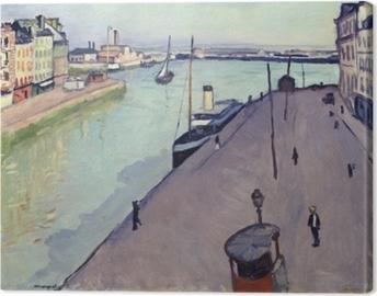 Obraz na plátně Albert Marquet - Вид гавани Гавра (Нотр-Дам Причал