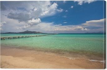 Obraz na plátně Alcudia pláž, Mallorca