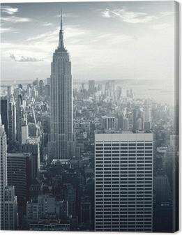 Obraz na plátně Amazing view to New York Manhattan at sunset
