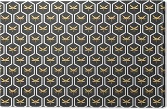 Obraz na plátně Art Deco bezešvé vinobraní tapety vzory vektor.