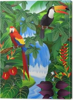 Obraz na Plátně Beauiful tropické pozadí