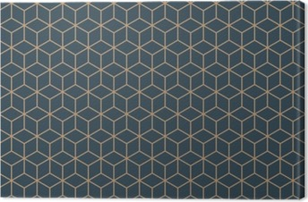 Obraz na Plátně Bezešvé tan modrá a hnědá izometrické krychle vzor vektor