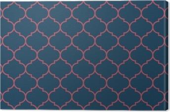 Obraz na Plátně Bezešvé tmavě modré a vínové široký maročtí pattern vector