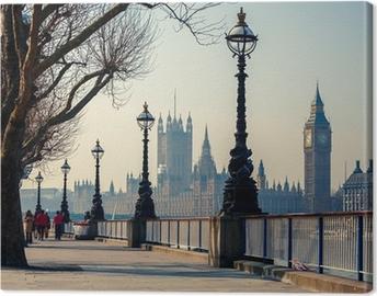 Obraz na plátně Big Ben a Houses of Parliament, London