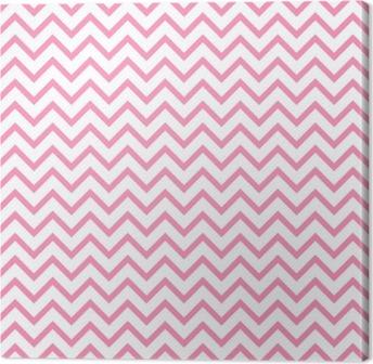 Obraz na Plátně Chevron cik-cak černé a bílé bezešvé vzor. Vektor geometrické monochromatický pruhované pozadí. Zig Zag vlny. Chevron monochromatický classic ornament.