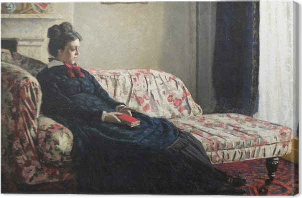 Obraz na plátně Claude Monet - Meditace, nebo Madame Monet na pohovce - Reprodukce