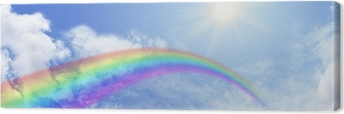 Obraz na plátně Duha Website Banner Header