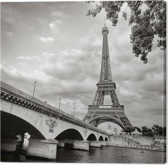 Obraz na Plátně Eiffelova věž pohled z formátu řeky Seiny náměstí