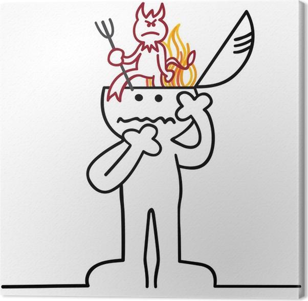 Obraz na plátně Figur ist von Teufel besessen - Ezoterika
