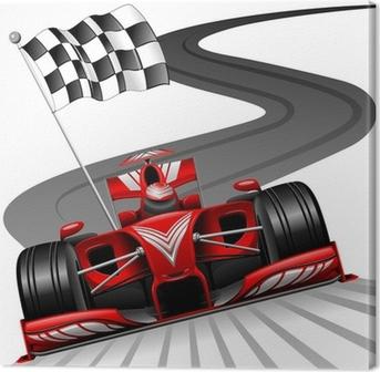 Obraz na Plátně Formule 1 červené auto na závodní dráze