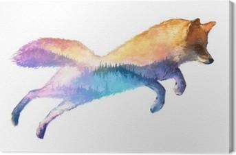 Obraz na Plátně Fox double ilustrace expozice
