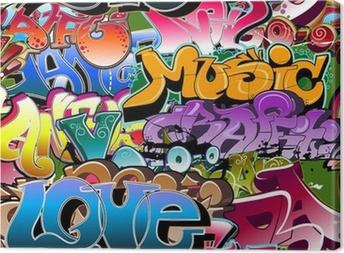 Obraz na Plátně Graffiti bezešvé pozadí. Hip-hop art