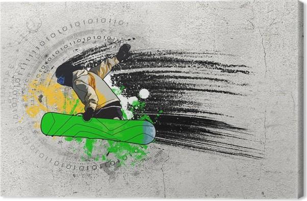 Obraz na plátně Graffiti obrázek - Zimní sporty