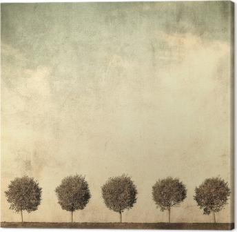 Obraz na Plátně Grunge obraz stromů