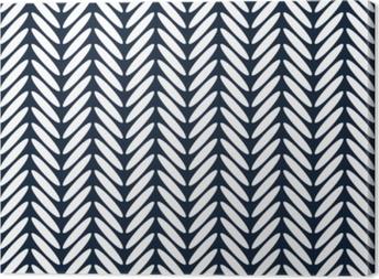Obraz na plátně Heřmánek klasický bezešvé vzor vektor