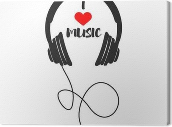 Obraz na plátně I love music