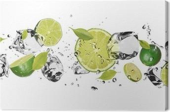 Obraz na Plátně Ice ovoce na bílém pozadí