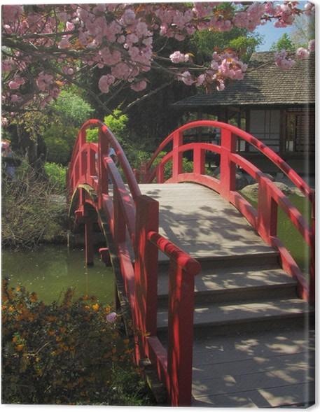 Obraz na plátně Japonská zahrada - Veřejné budovy