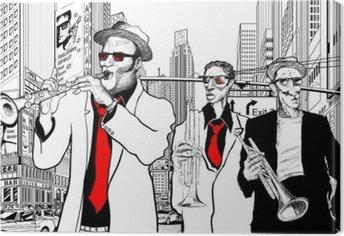 Obraz na Plátně Jazzová kapela v ulici New Yorku