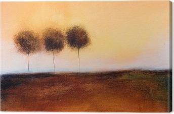 Obraz na Plátně Je to abstraktní malbu 3 stromy