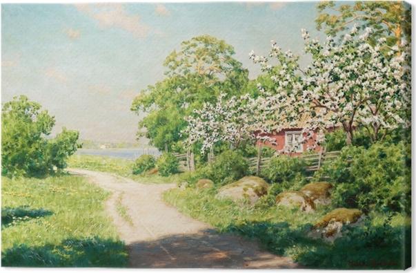 Obraz na plátně Johan Krouthén - Проселочная дорога - Reproductions