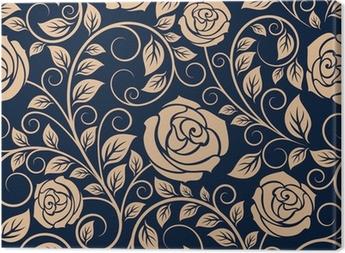 Obraz na Plátně Klasická růže květiny bezešvé vzor