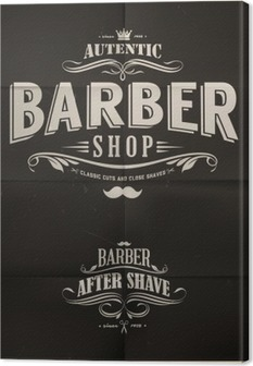 Obraz na Plátně Klasické Barber Shop Doplňky