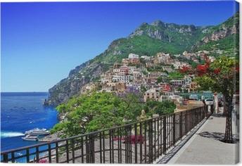 Obraz na plátně Krásné Positano, Amalfi pobřeží Itálie