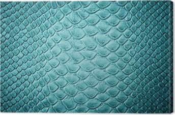 Obraz na Plátně Krokodýlí tyrkysová textury kůže